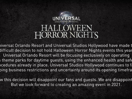 HHN 2020 Events Cancelled in Orlando & Hollywood