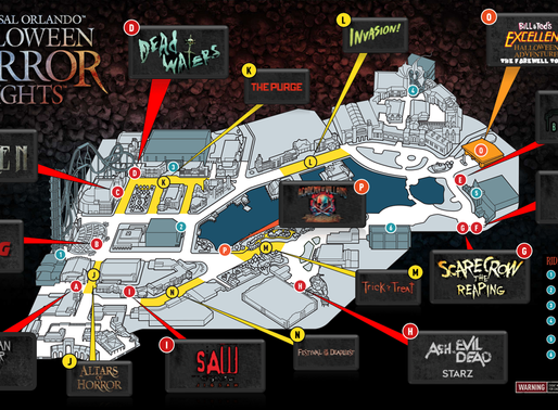 Official Halloween Horror Nights Orlando 2017 Map Revealed!