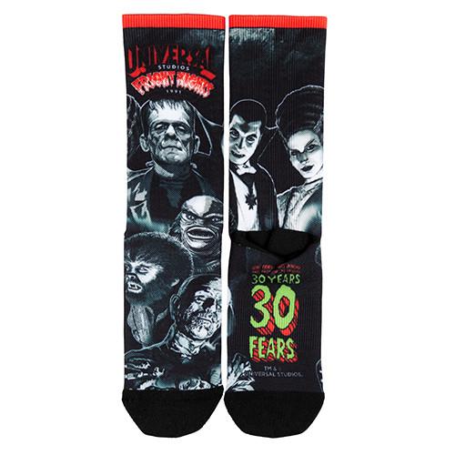 L-Retro-Fright-Nights-1991-Monsters-Sock