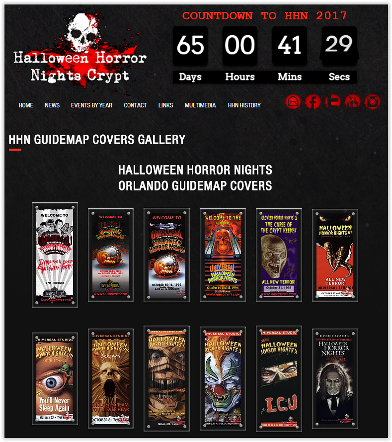 hhn guidemaps gallery halloween horror nights crypt - Hours Halloween Horror Nights