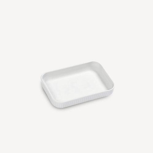 PILLIVUYT - Plat à tapas en porcelaine Plissé
