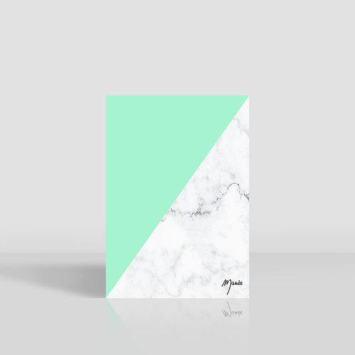 MAMEE- Carnet marbre vert d'eau