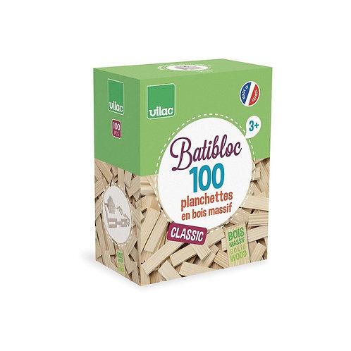 VILAC - Batibloc classic 100 planchettes bois massif