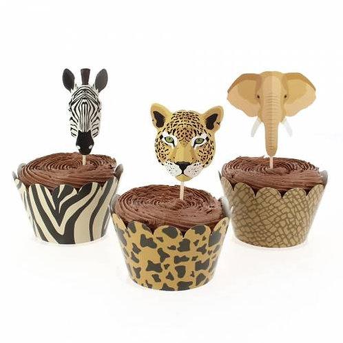 ANNIKIDS - Kit Cupcakes Savane - Recyclable