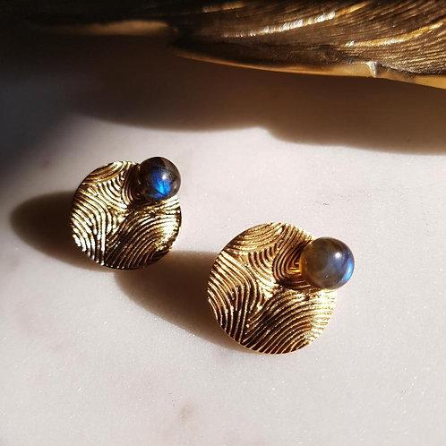 GINANDGER- Boucles d'oreilles Mina Labradorite