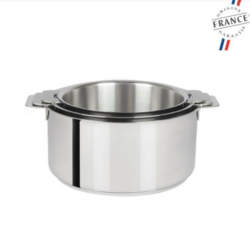 CRISTEL - Série de 3 casseroles inox