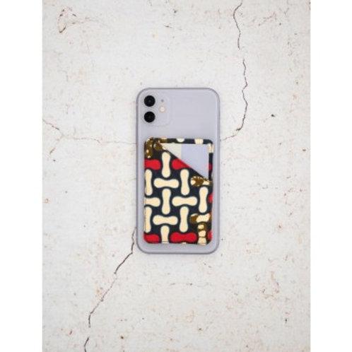 CARDIEM - Porte-cartes unique en tissu wax sur smartphone