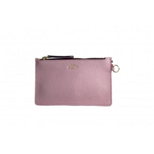 ATELIER BALTUS - Mini pochette Jade / Cuir rose pastel