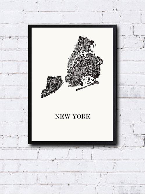 CIYOO- Carte design de NEW YORK