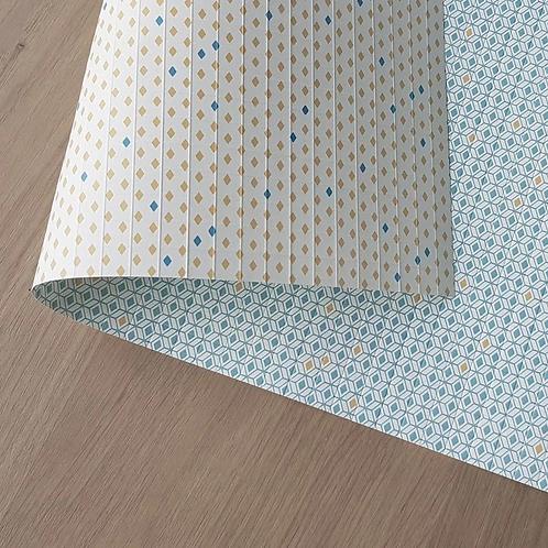 LES BELLES MUSETTES - Papier cadeau Paul Bleu losange