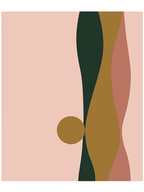 LES GAMBETTES- Tapis Vadim vinyle (160x200cm) - Imprimé Sunset