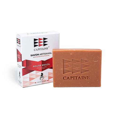 CAPITAINE COSMÉTIQUES - Savon « Rouge Brazil » - Hydratant - 100g