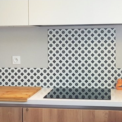99 DECO - NEW Carreau de ciment - Crédence de cuisine en ALU