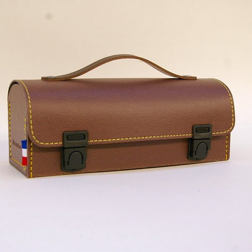 LA SACOCHE MAROQUINOR - Sacoche de pétanque horizontale marron