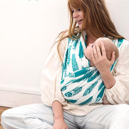 JOSETTE LA CHOUETTE - Porte-bébé bandeaux Plumes Lagon