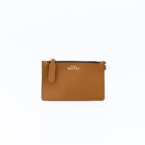 ATELIER BALTUS - Mini pochette Jade / Cuir marron