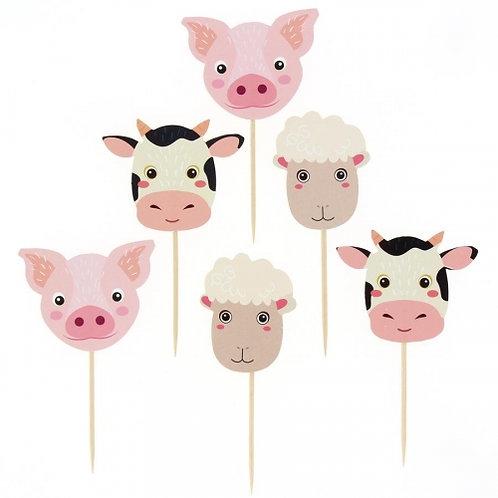 ANNIKIDS - Kit Cupcakes Animaux de la Ferme - Recyclable