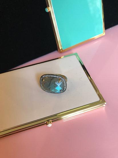 Vermeil and labradorite ring