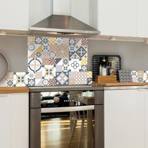 99 DECO - Ciment Style Pastel Rose- Crédence de cuisine en ALU