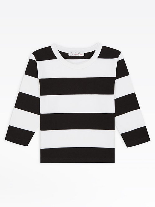 AGNÈS B - T-shirt Cool - Noir Blanc