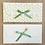 Thumbnail: LES BELLES MUSETTES - Enveloppe cadeau Maud Vert feuillage
