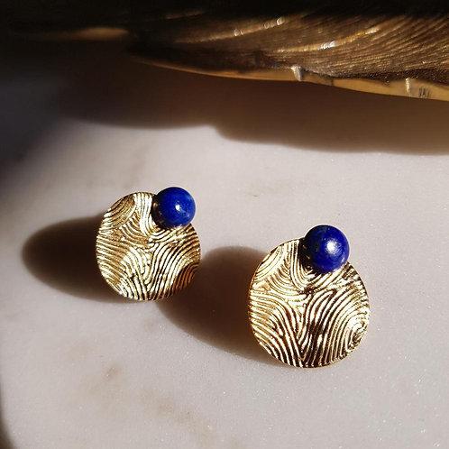 GINANDGER- Boucles d'oreilles Mina Lapis Lazuli
