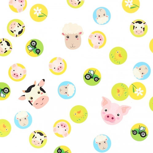 ANNIKIDS - Confettis Animaux de la Ferme - Recyclable