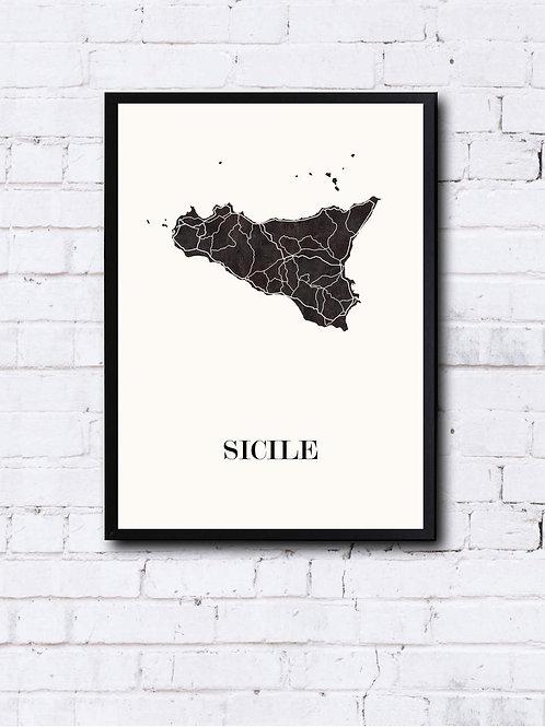 CIYOO- Carte design de la SICILE