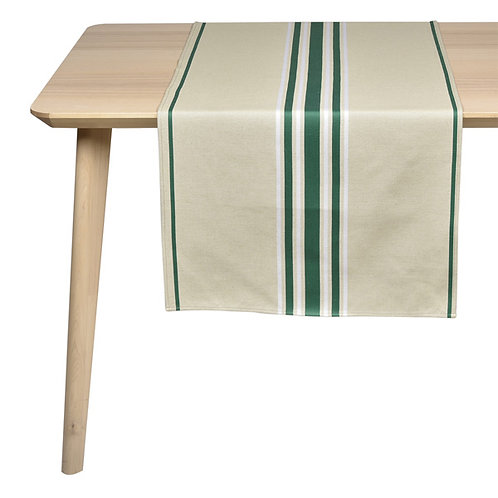 ARTIGA- Jeté de table CORDA METIS EPINARD/BLANC