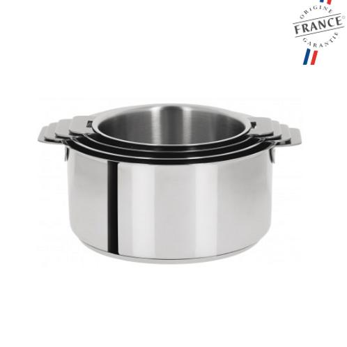 CRISTEL - Série de 4 casseroles inox
