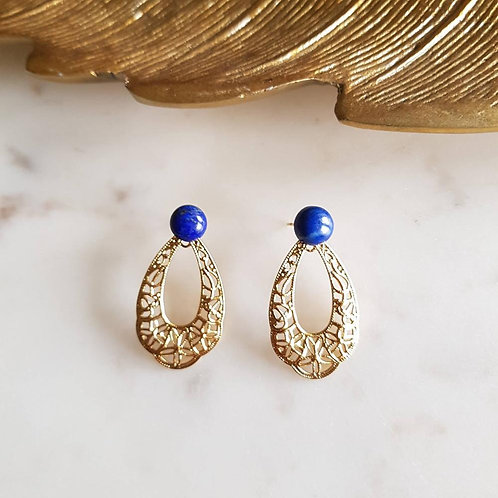 GINANDGER- Boucles d'oreilles Simone Lapis Lazuli