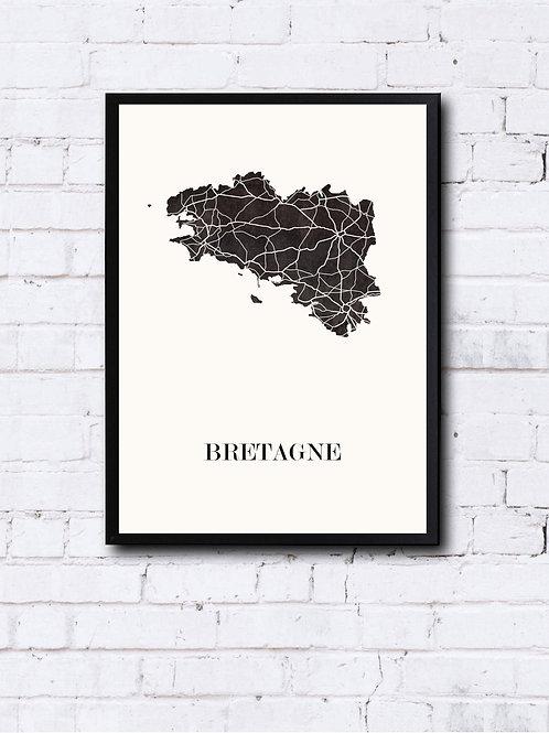 CIYOO- Carte design de BRETAGNE