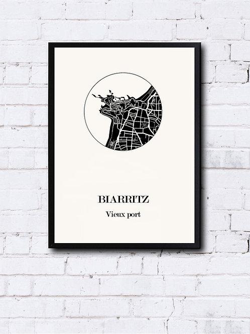 CIYOO- Carte design de BIARRITZ