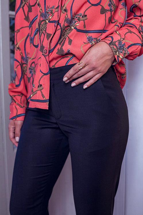 DANIELLE ENGEL - Pantalon Michael bleu