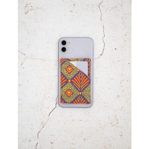 CARDIEM - Porte-cartes unique en tissu sur smartphone repositionnable