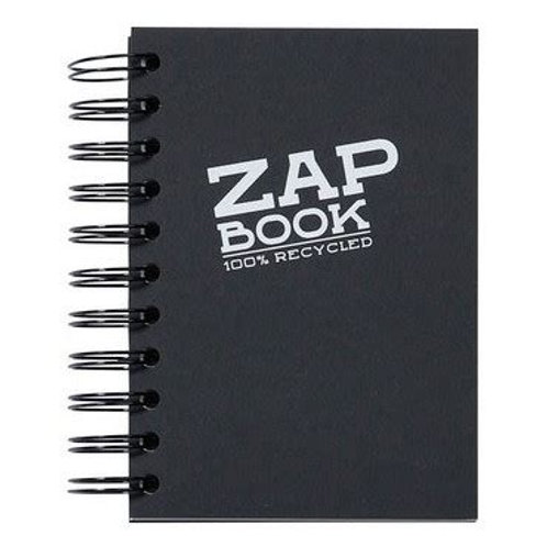 CLAIREFONTAINE - ZAP BOOK SPIRALE NOIR A6 80G 160F