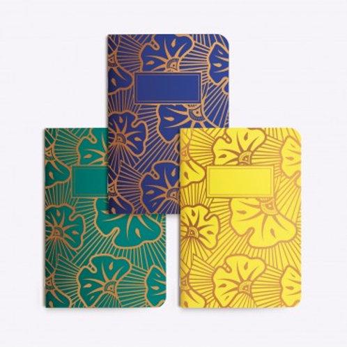 LES EDITIONS DU PAON - Trio petits carnets wax