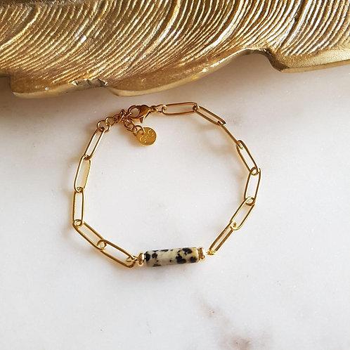 GINANDGER- Bracelet Koro Jaspe dalmatien