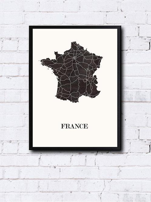 CIYOO- Carte design de FRANCE