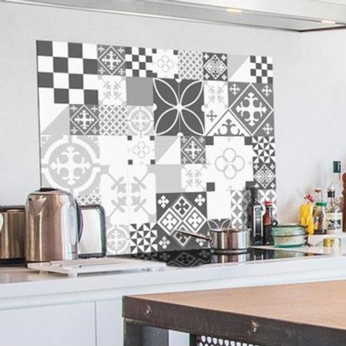 99 DECO - Ciment style Gris - Crédence de cuisine en ALU