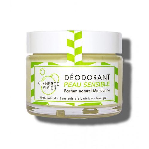 CLÉMENCE & VIVIEN - Déodorant naturel peau sensible - Mandarine