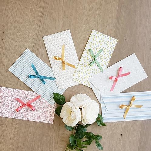 LES BELLES MUSETTES - Lot de 6 enveloppes cadeaux Maud