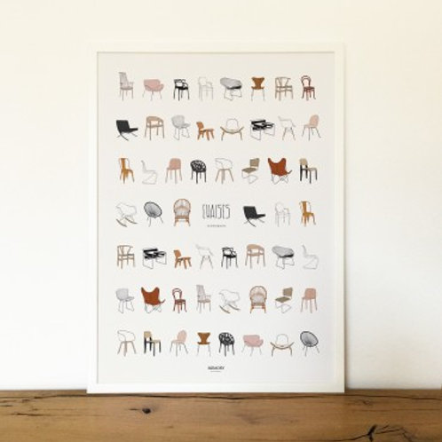 MEMORY AFFICHES - Affiche Chaises