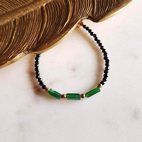 GINANDGER- Bracelet Cala Onyx vert