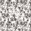 Thumbnail: LES GAMBETTES- Tapis Vadim vinyle (120x100cm) - Imprimé Oasis Rose