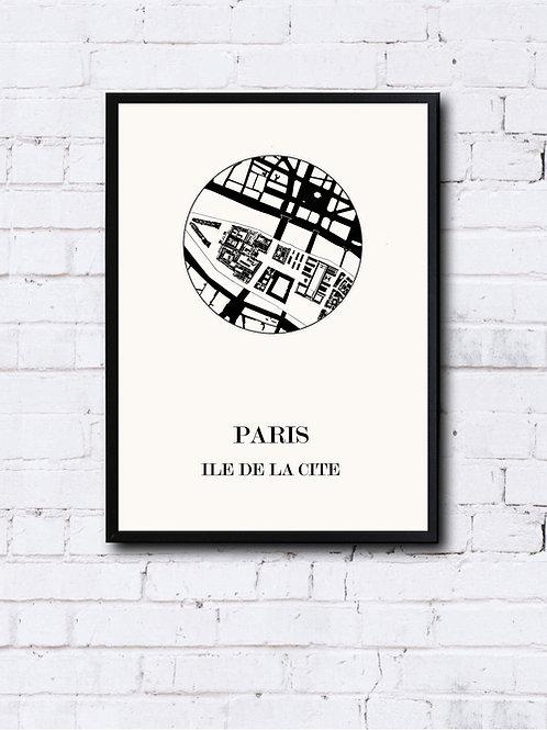 CIYOO- Carte design de PARIS Ile de la cité
