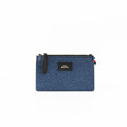 ATELIER BALTUS - Mini pochette Jade / Paillette bleu
