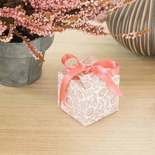 LES BELLES MUSETTES - Boîte cadeaux cube Lou Rose fleur