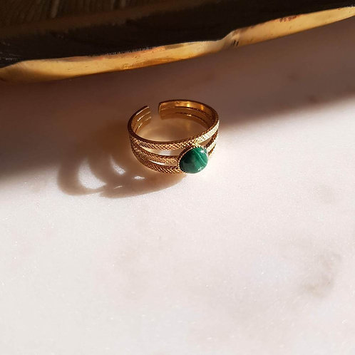GINANDGER- Bague Suzy Malachite