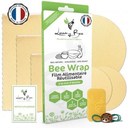 LOOMY BEE - Bee Wrap : Emballage en Cire d'abeille Réutilisable